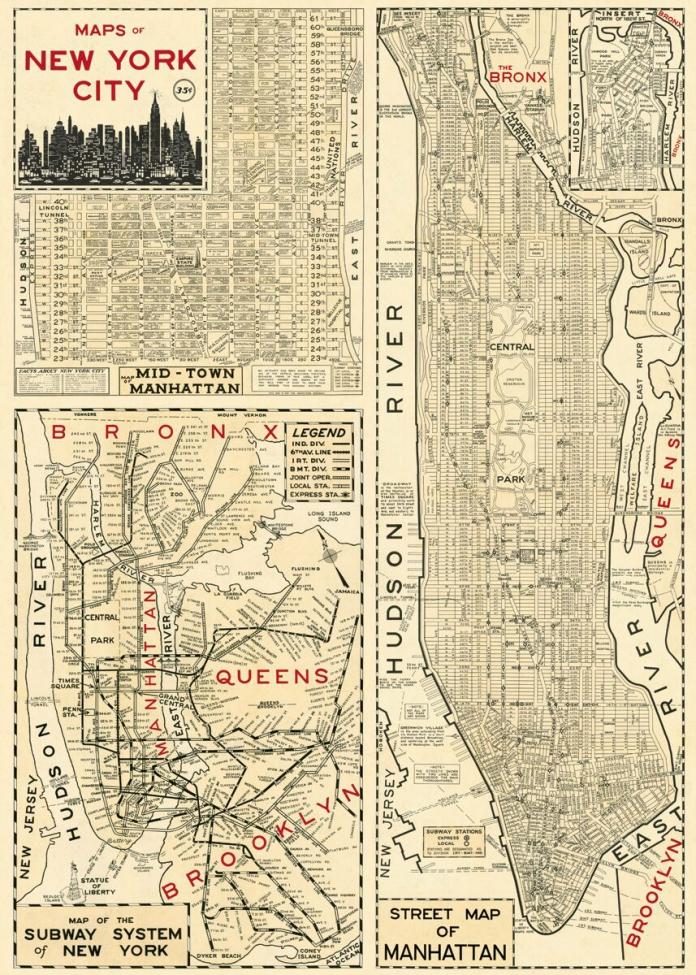 Poster - Karta New York