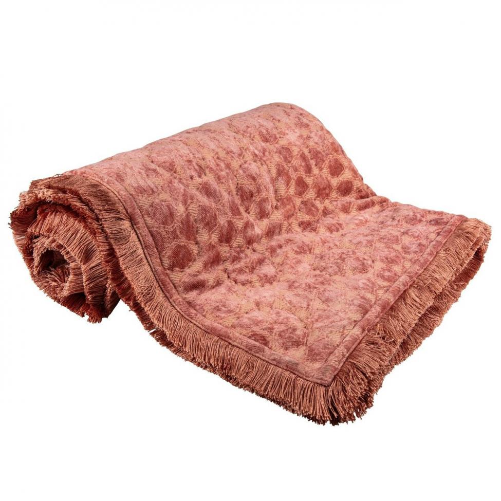 Pläd 'Day Mahal Velvet' - City pink
