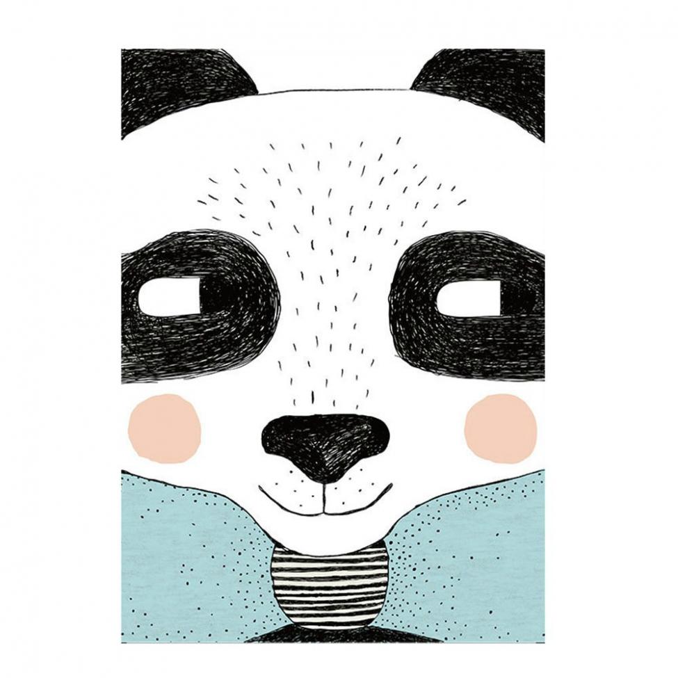 Canvas Poster - Glad Panda