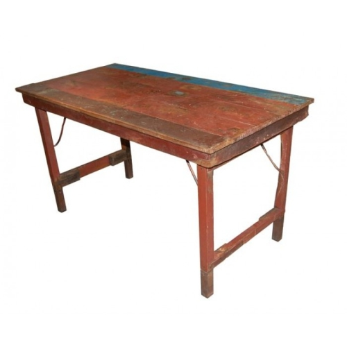Matbord tr?  vintage i gruppen Tr?dg?rdsm?bler  Tr?dg?rdsbord