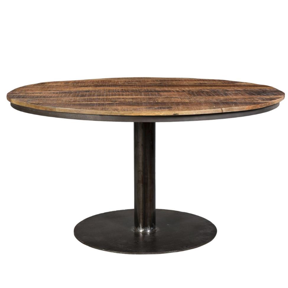 Runt matbord - återvunnet trä/Järn Ø140