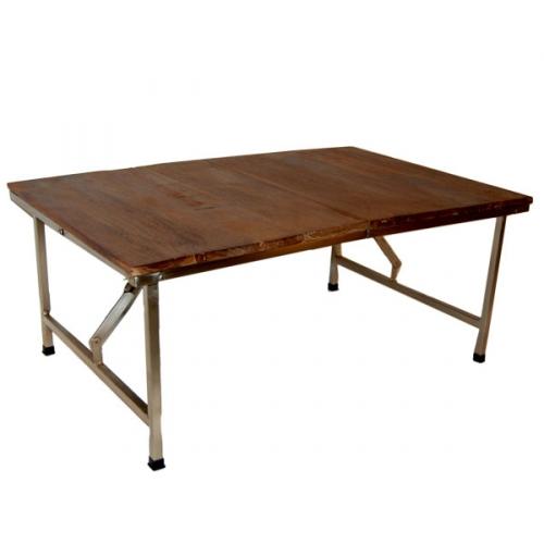 Soffbord - trä och stål