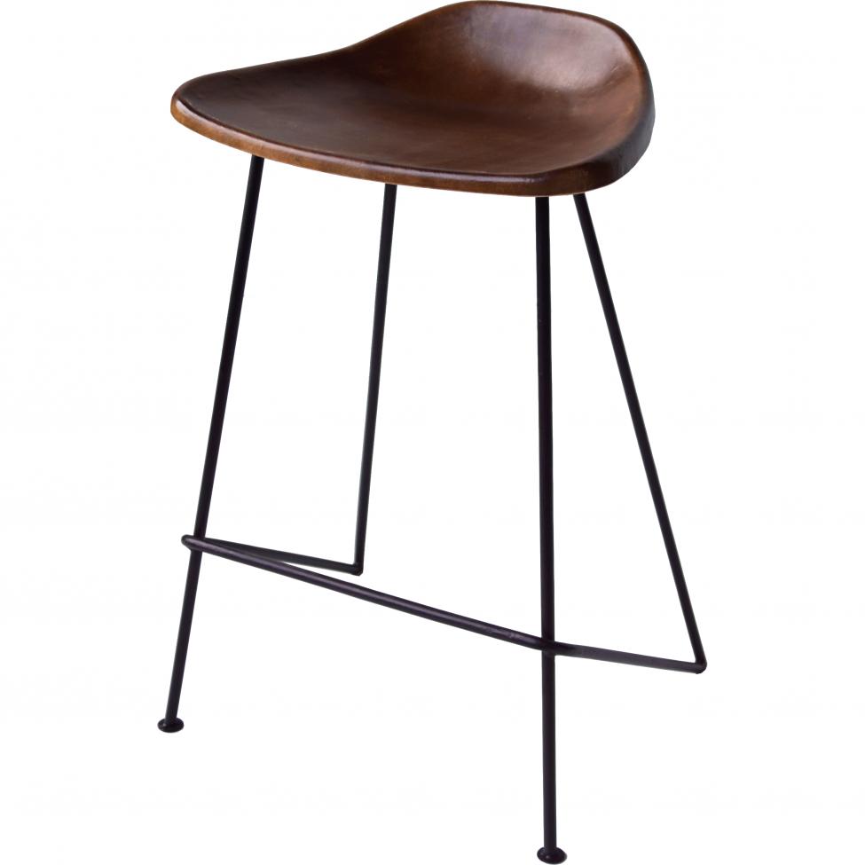 Barstol 55 cm - Läder/Järn
