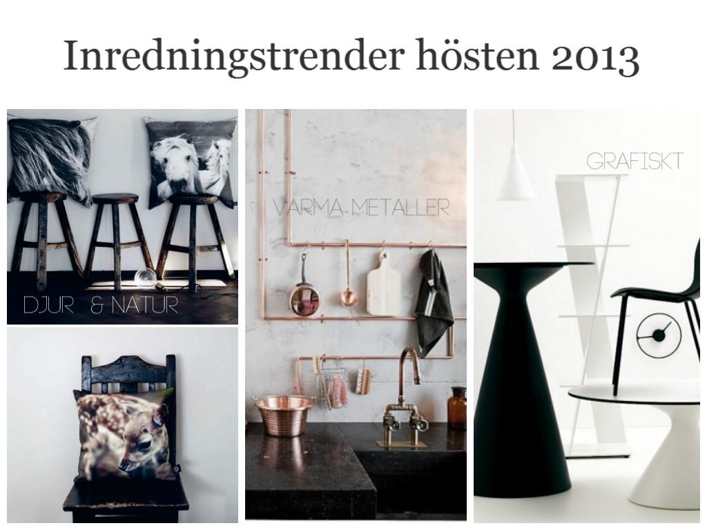 Inredningstredner höst och vinter 2013