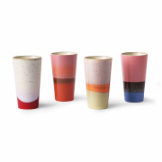 4-pack Muggar '70s Latte' - Multi